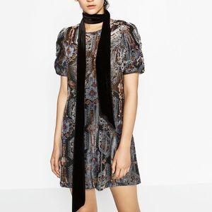 Zara velvet neck scarf